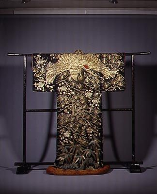 kabuki theatre kimono displayed at galerie am haus der kunst in munich germany kimonos. Black Bedroom Furniture Sets. Home Design Ideas