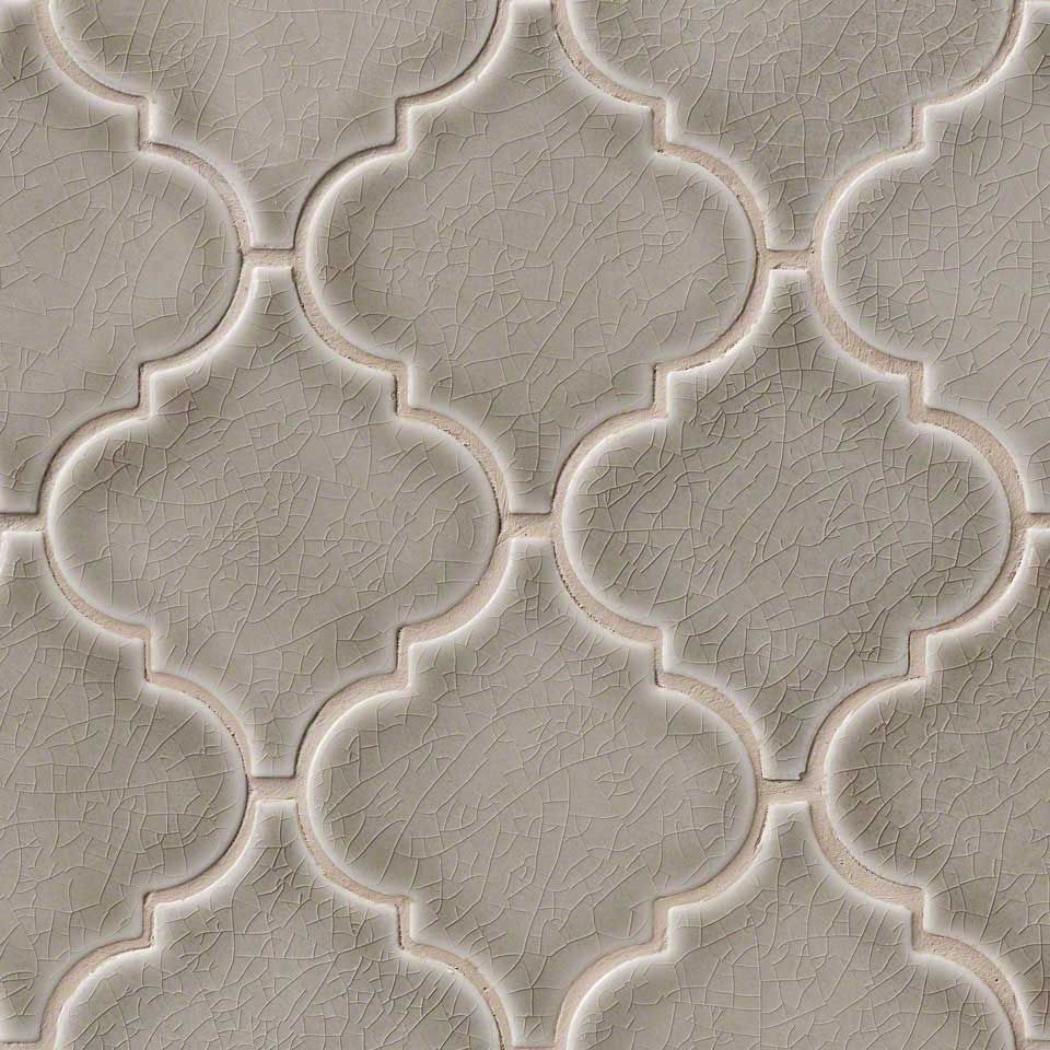 Best Dove Gray Arabesque 8Mm Mosaics Kitchen Tiles 400 x 300