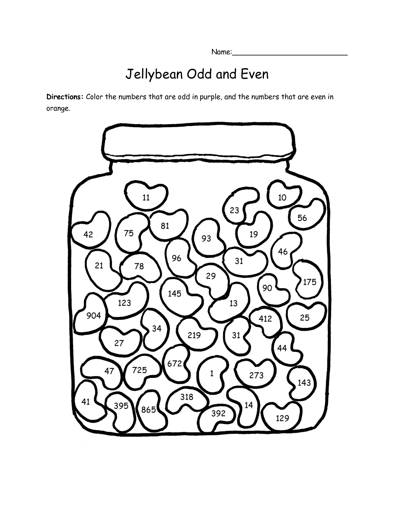 Odd And Even Worksheets Odd And Even Colouring Pages