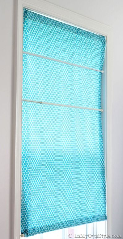 No Sew Roman Shades With Tension Rods Lined Or Unlined