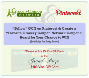 Grocery Coupon Network Pinterest Contest Grocery Coupons Pinterest Contests Visa Gift Card
