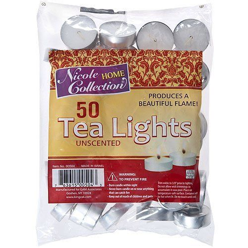 Nicole Home Collection 50 Unscented Tealights ** Hurry ...