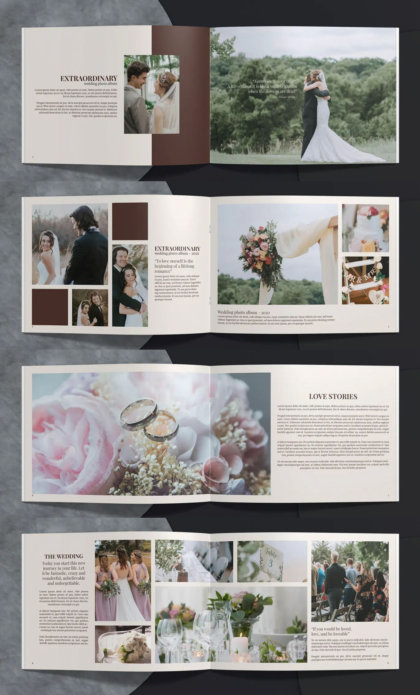 Wedding Album Template Indesign In 2020 Wedding Album Templates Photo Album Design Wedding Album