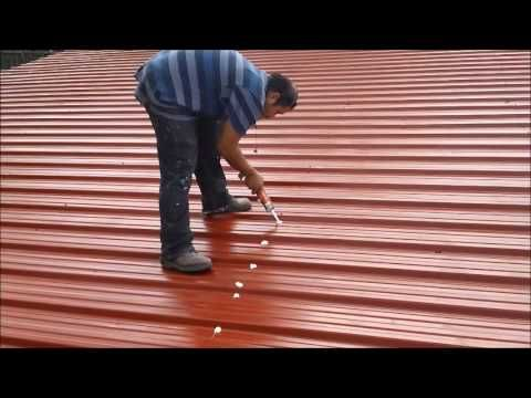 Rusted Roof Coating Video Youtube Metal Roof Repair Roof Coating Roof Repair