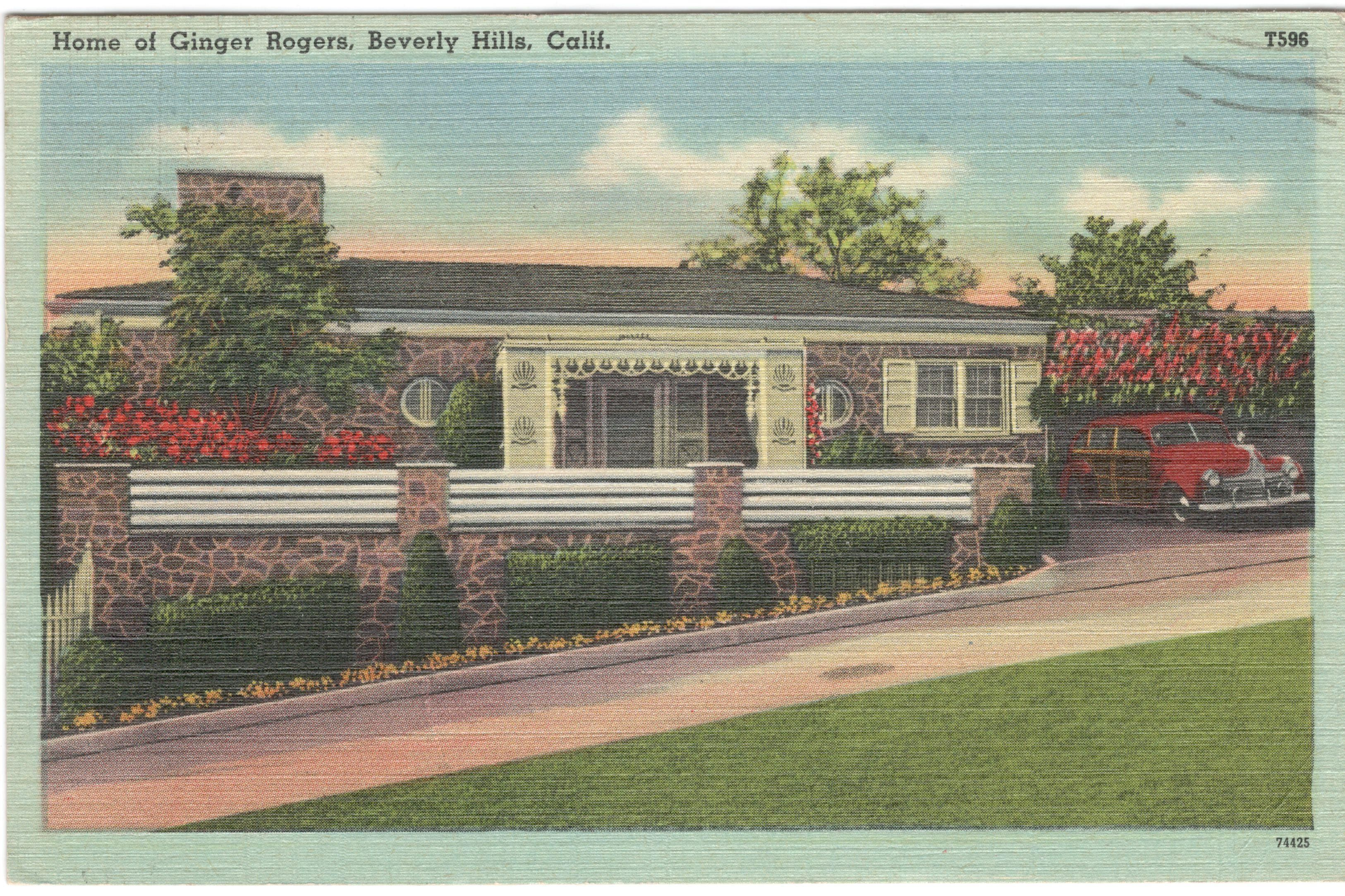 Ginger rogers home in 2020 hollywood homes celebrity