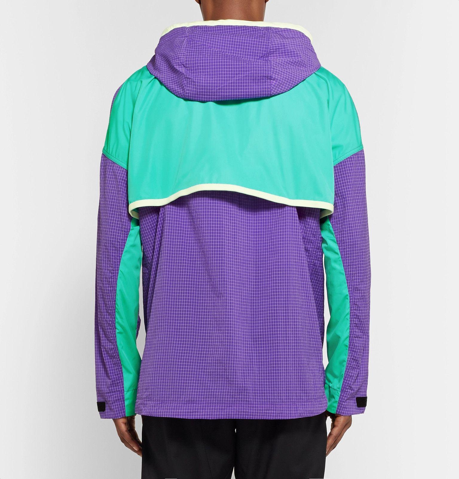 3de8895a4 Nike - ACG Colour-Block Nylon-Blend Ripstop and Shell Hooded Jacket ...