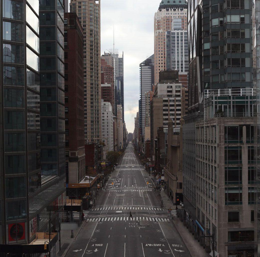 Stranger Crossing An Empty Street In An Empty City City Aesthetic City Landscape City Streets