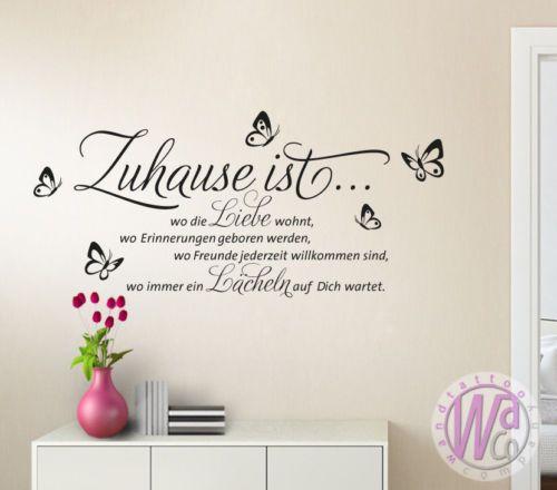 wandtattoo spruch zuhause ist wo die liebe wohnt w1133 zitat wohnzimmer flur wandtattoos. Black Bedroom Furniture Sets. Home Design Ideas
