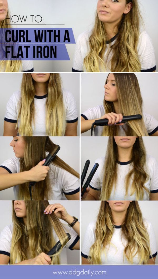 How To Get Natural Waves Using A Flat Hair Iron Flat Iron Hair Styles Curl Hair With Straightener How To Curl Your Hair