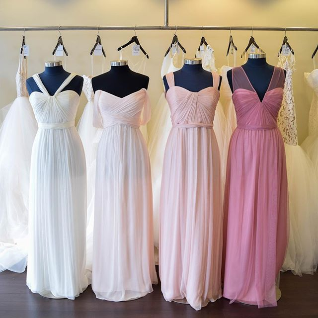 We Love The Pretty Hues Of These @amsalebridesmaids