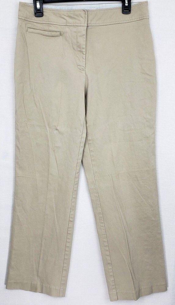917649d1 Tommy Hilfiger Womens Size 12 Stretch Khaki Cotton Straight Leg Pants # TommyHilfiger #KhakisChinos #Any