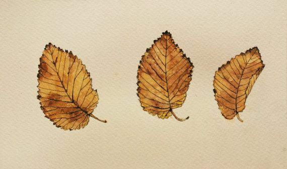 Herbstszenen Original Aquarell Malerei / von TheColorfulArt auf Etsy