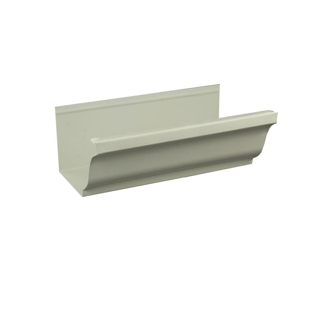 Spectra Metals 5 In X 8 Ft K Style Almond Aluminum Gutter 5kal8 Low Gloss Diy Gutters Gutter