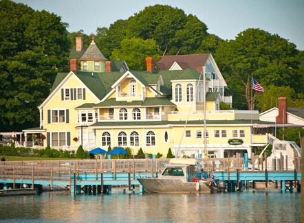 The Bay View Bed Breakfast Overlooks The Straits Of Mackinac