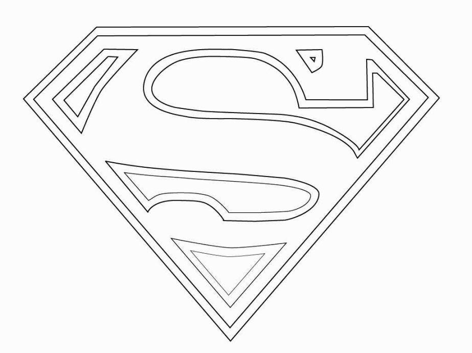 Superman Logo Coloring Pages Coloriage Superman Fete Des Peres Coloriage