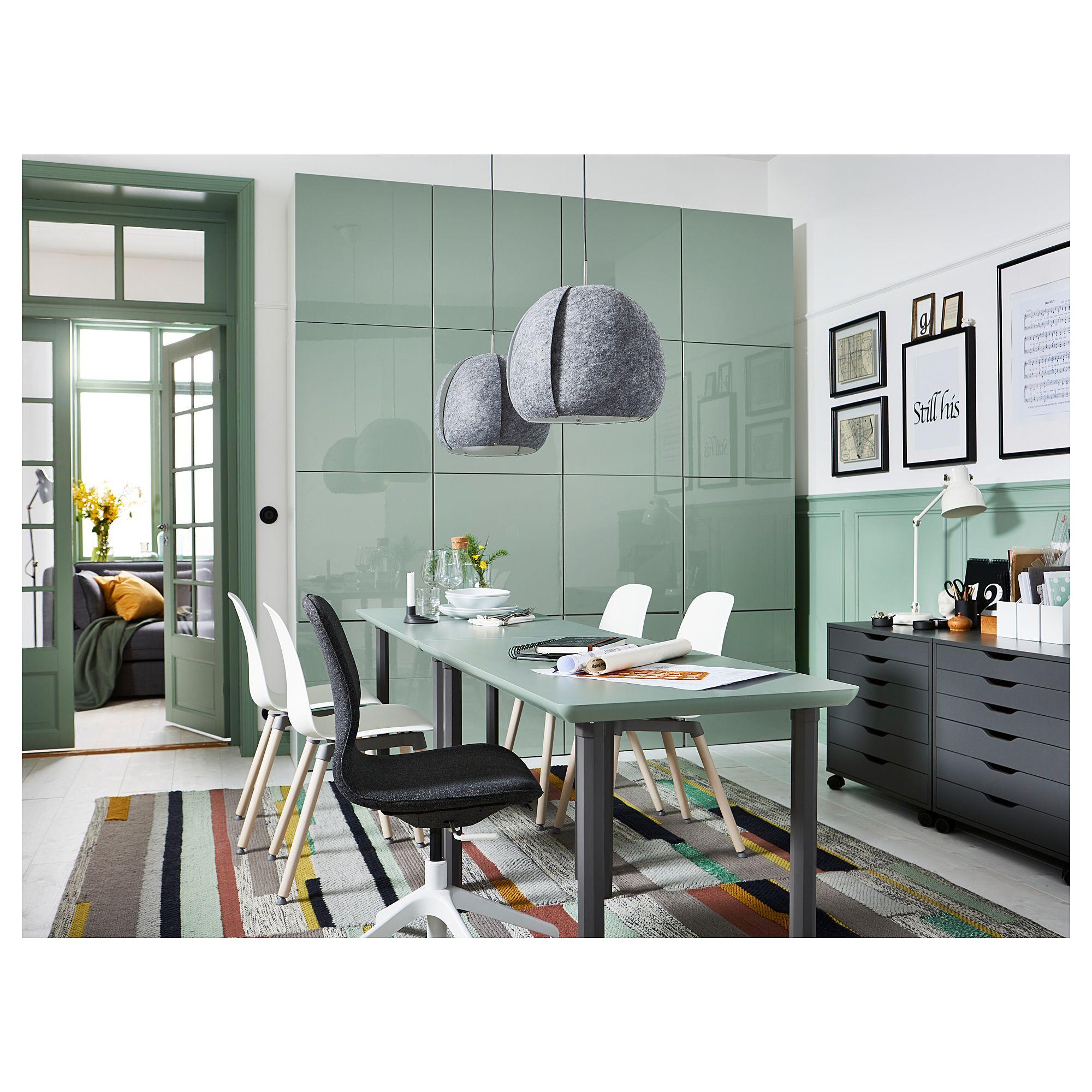 IKEA - ÅMLIDEN / ALVARET Table Gray-green, Gray