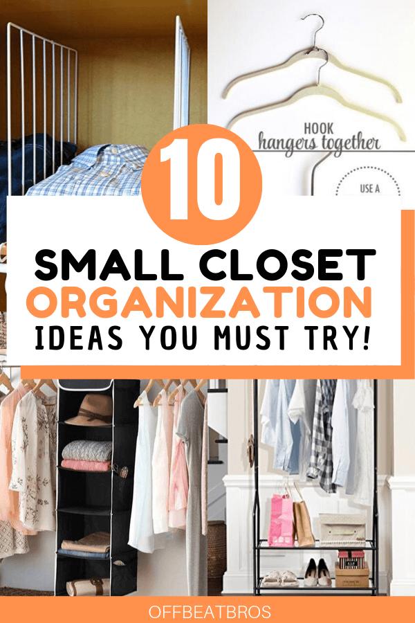 10 Closet Organization Ideas You Ll Actually Want To Try Closet Hacks Organizing Closet Organization Bedroom Organization Closet