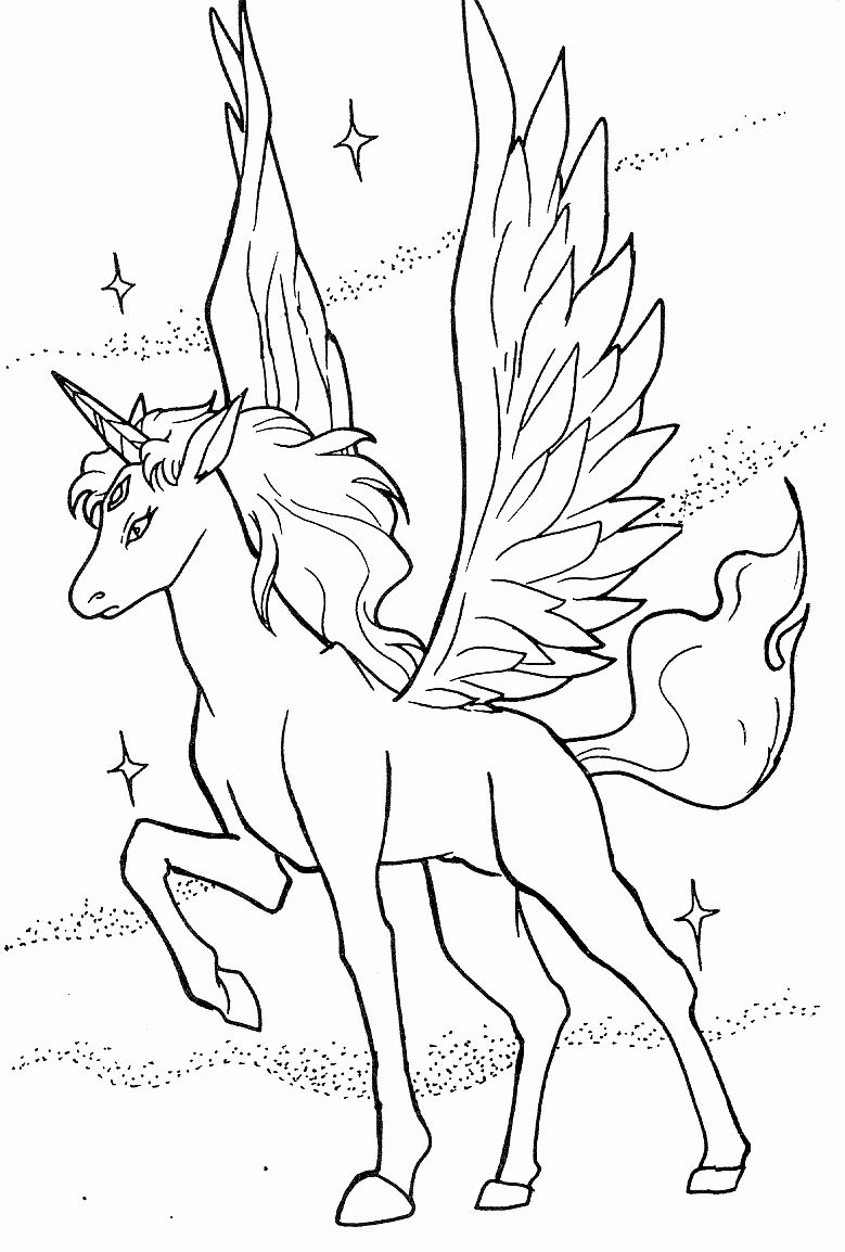 Unicorn Pegasus Coloring Page Luxury Pegasus Coloring Pages Kidsuki In 2020 Sailor Moon Coloring Pages Unicorn Coloring Pages Horse Coloring Pages
