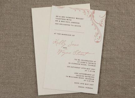 Paris Wedding Invitation   Papermarc Melbourne, Australia