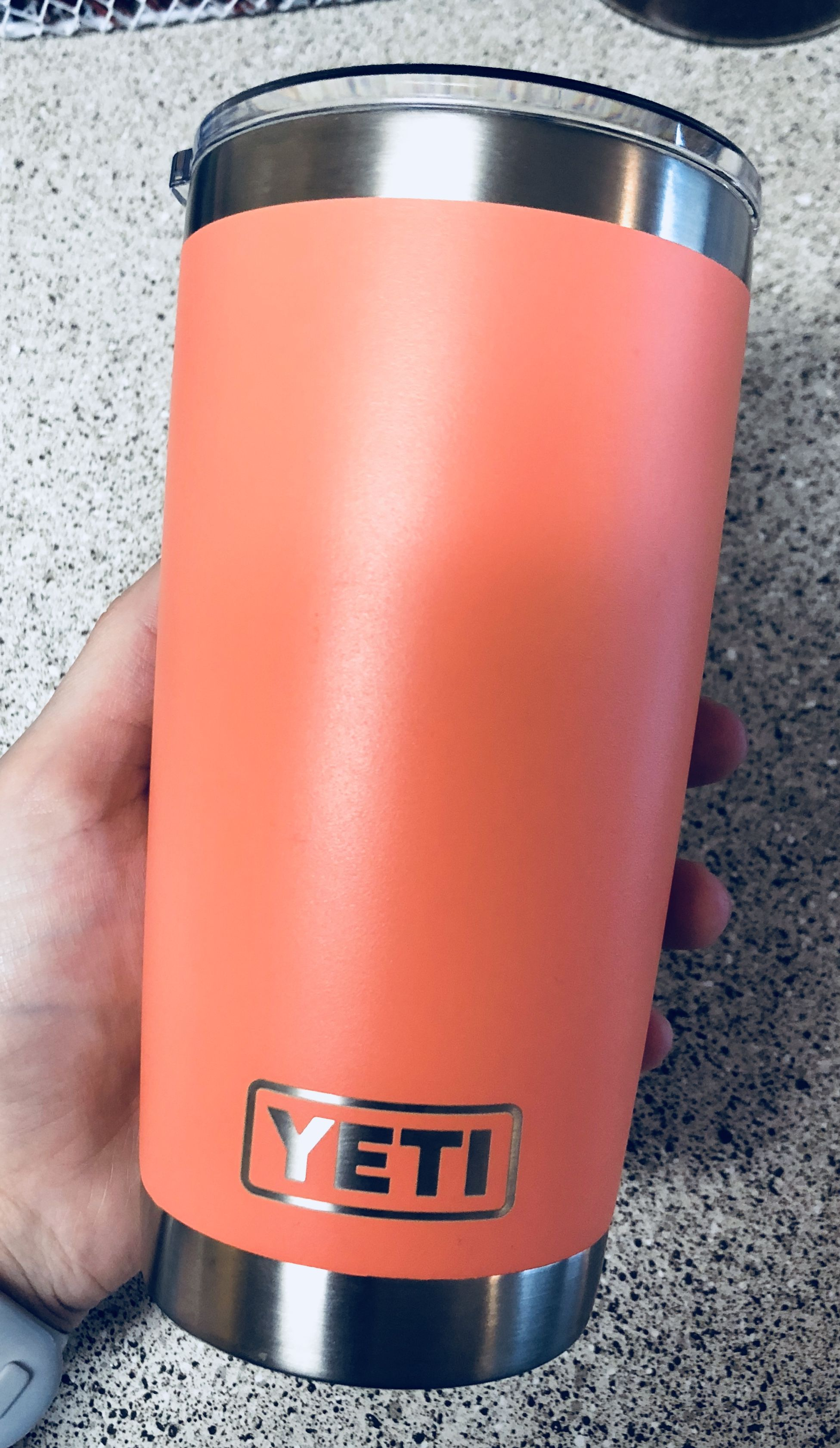 Limited Edition Coral Yeti 20oz Tumbler 🧡 | Personals in