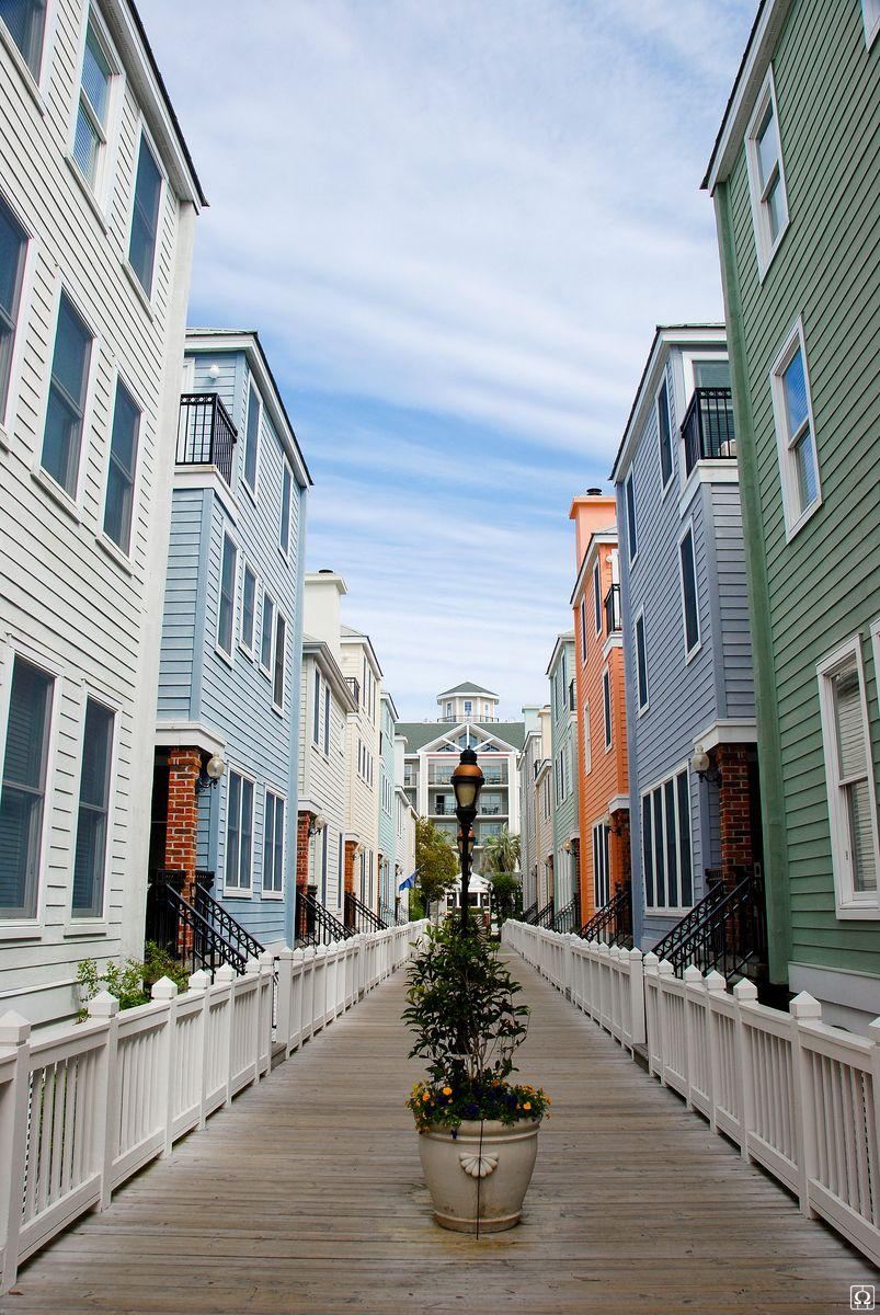A Row Of Symmetrical Beach Houses Charleston South