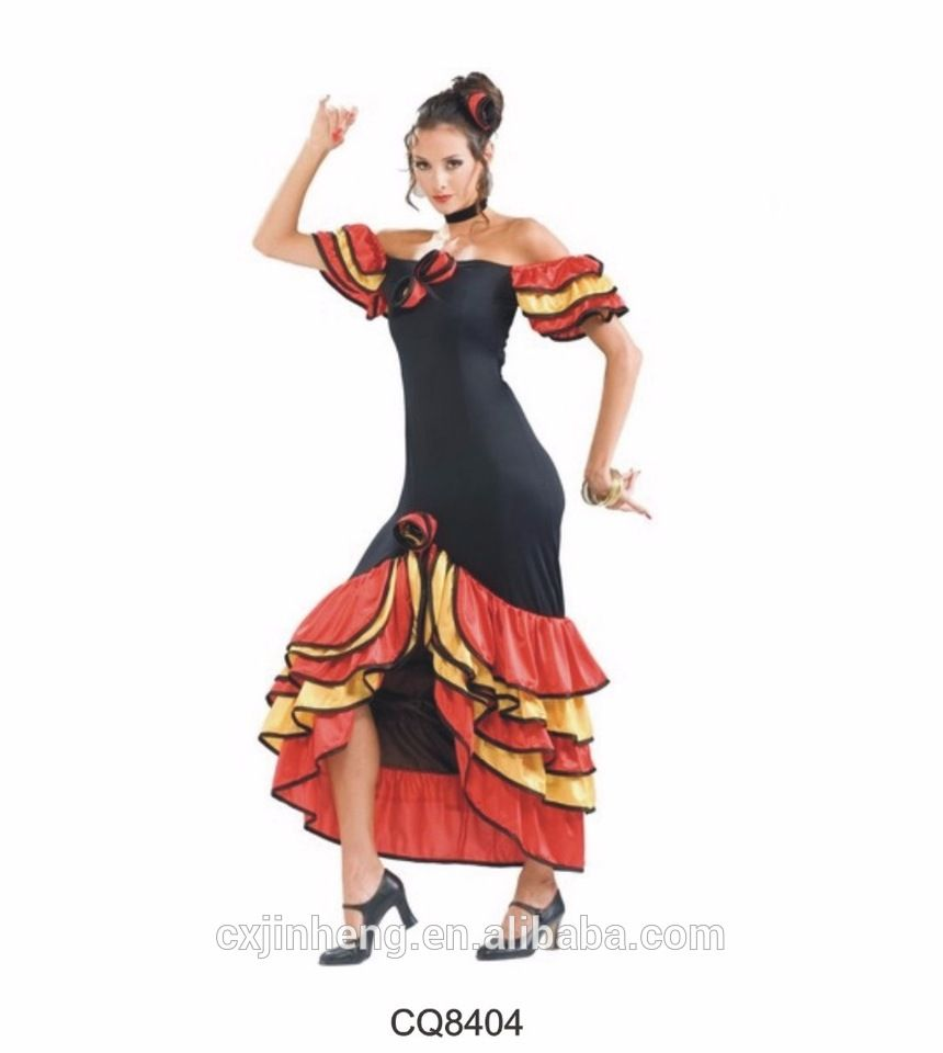 13860aa7f17b RUMBA Salsa Ladies Spanish Mexican Flemenco Fancy Dress Costume carnival  costumes for women