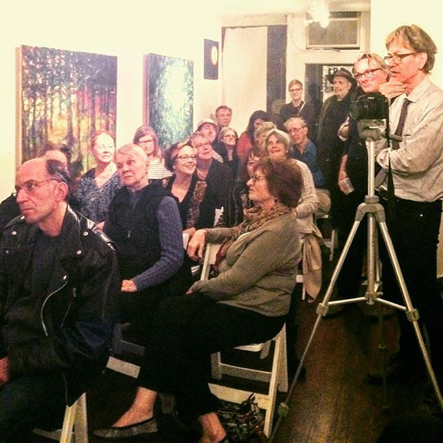 Audience for #katherinebowling's talk about her use of memory in #painting at Cross #ContemporaryArt #Saugerties