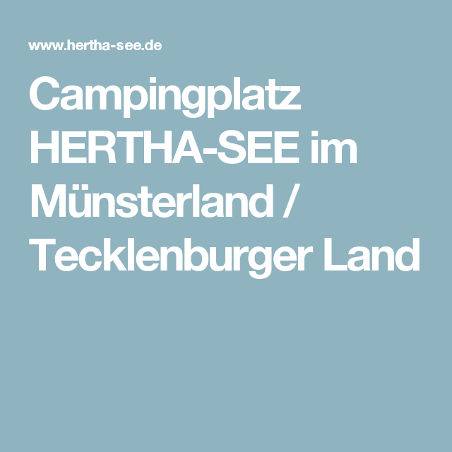 Campingplatz HERTHA-SEE im Münsterland / Tecklenburger Land