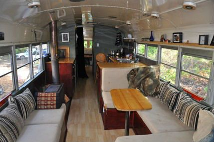 upcycled bus into home from crafting a green world farm house rh pinterest com bus into rome fiumicino airport bus turned into home