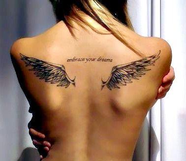 0db690660 Upper Back Tattoo | Tattoos | Tattoos, Angel tattoo designs, Wing ...