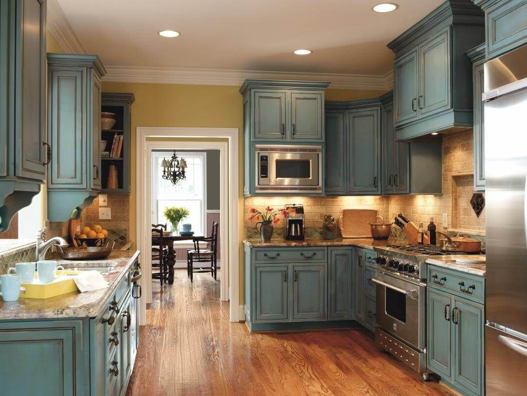 Kitchen Rustic Kitchen Design Ideas Cabinets Island Blue Painting Wall Dining Table D Distressed Kitchen Cabinets Distressed Kitchen Kitchen Cabinets For Sale