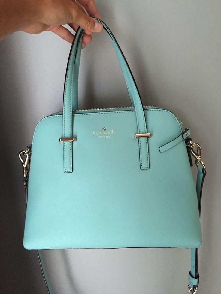 Kate Spade Cedar Street Maise Tiffany Blue Handbag Purse Crossbody