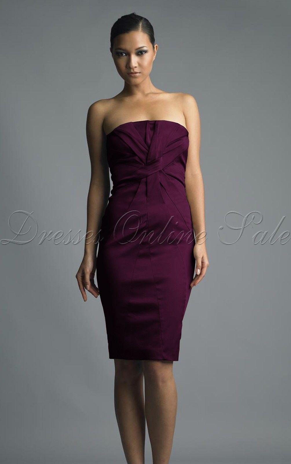 Knee Length Strapless Dress