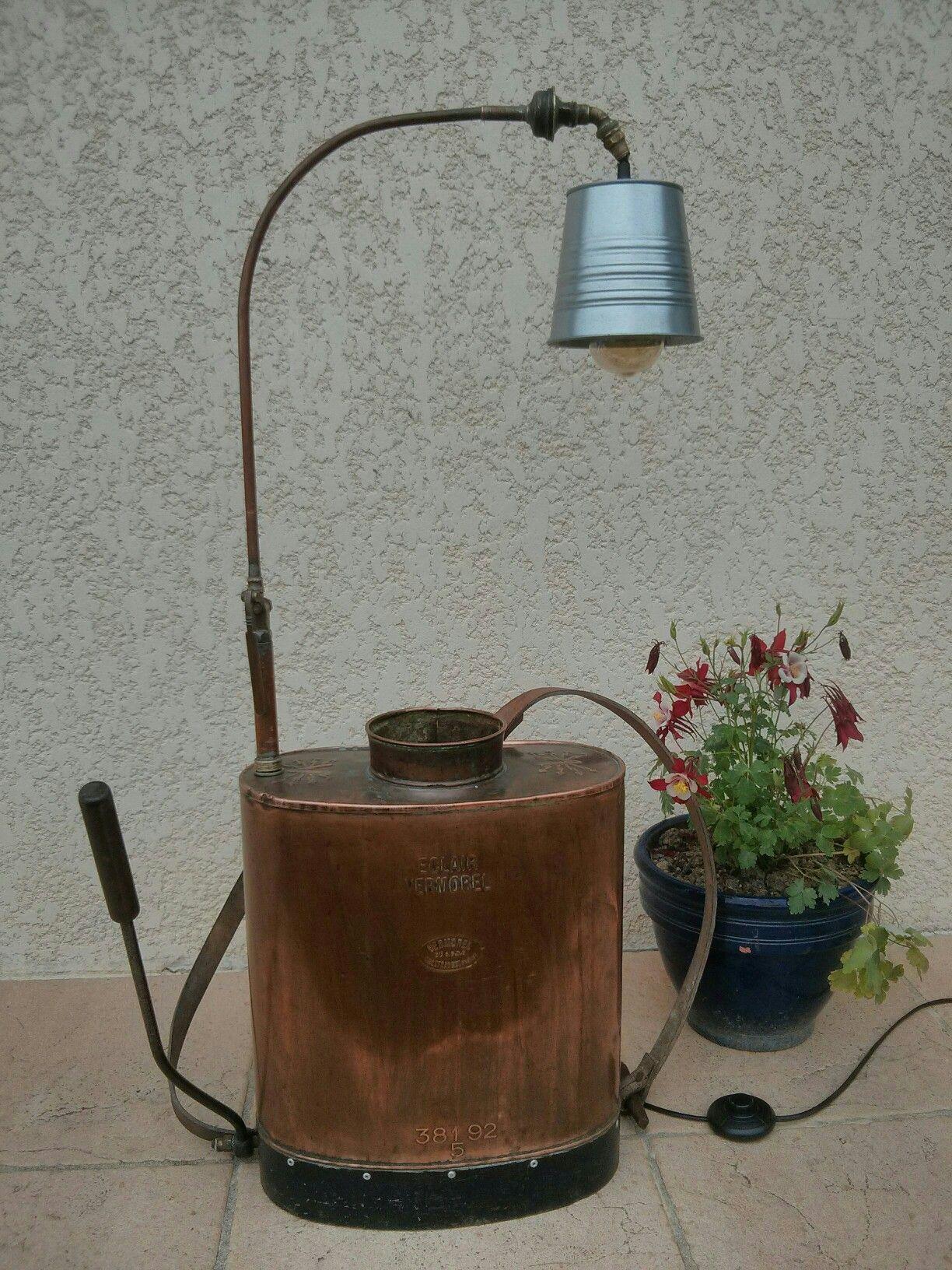 styles frais profiter de gros rabais invaincu x Toupalet' Lampe de salon Très ancien pulvérisateur Vermorel ...