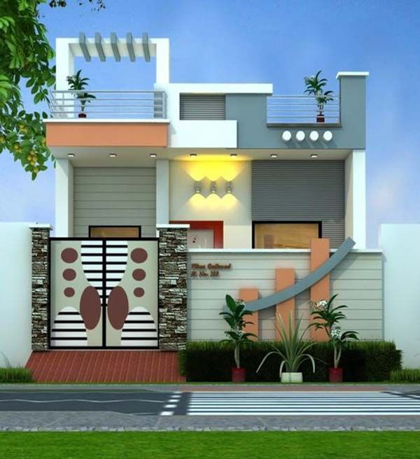 Creative Home Front Landscape Design Ideas Small House Elevation