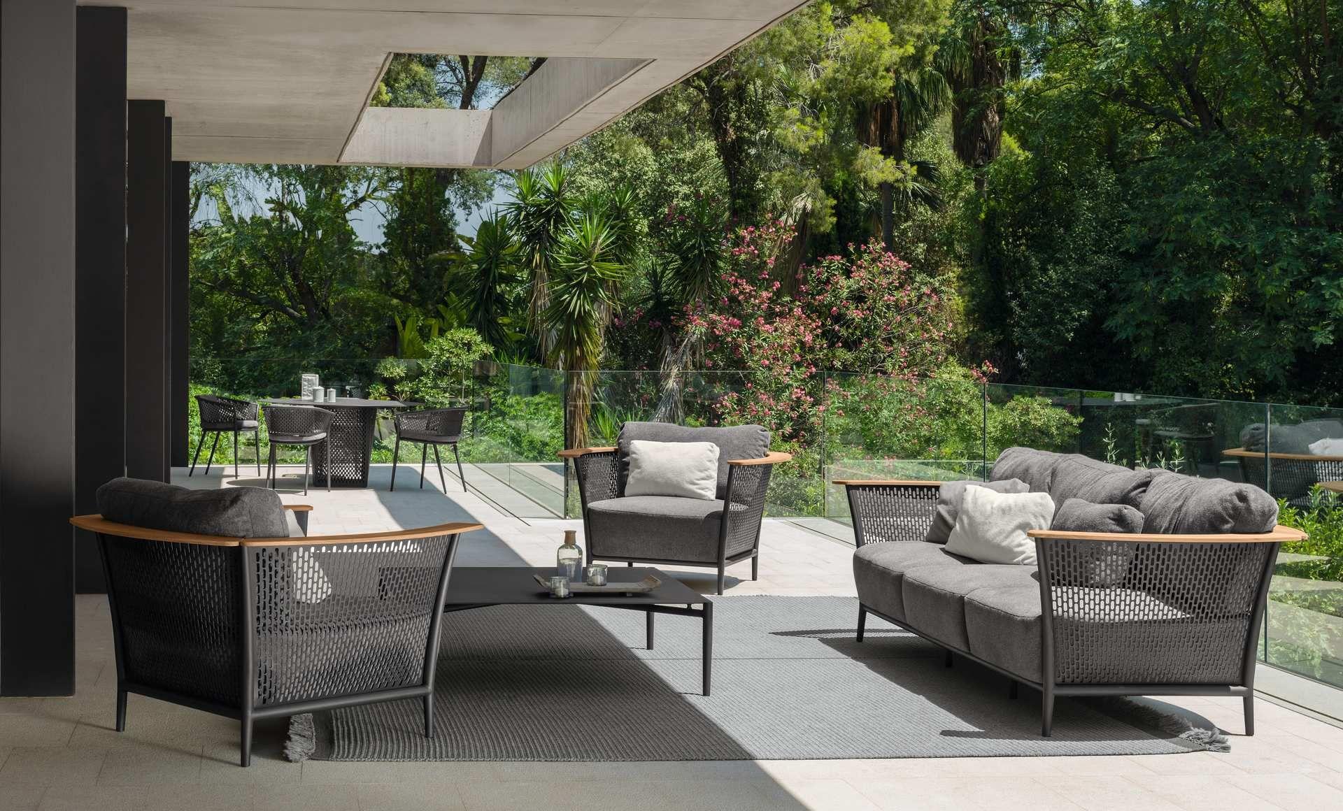 Pascal Living Armchair Italian Garden Furniture Talenti Sadovyj Divan Dizajn Zagorodnye Doma