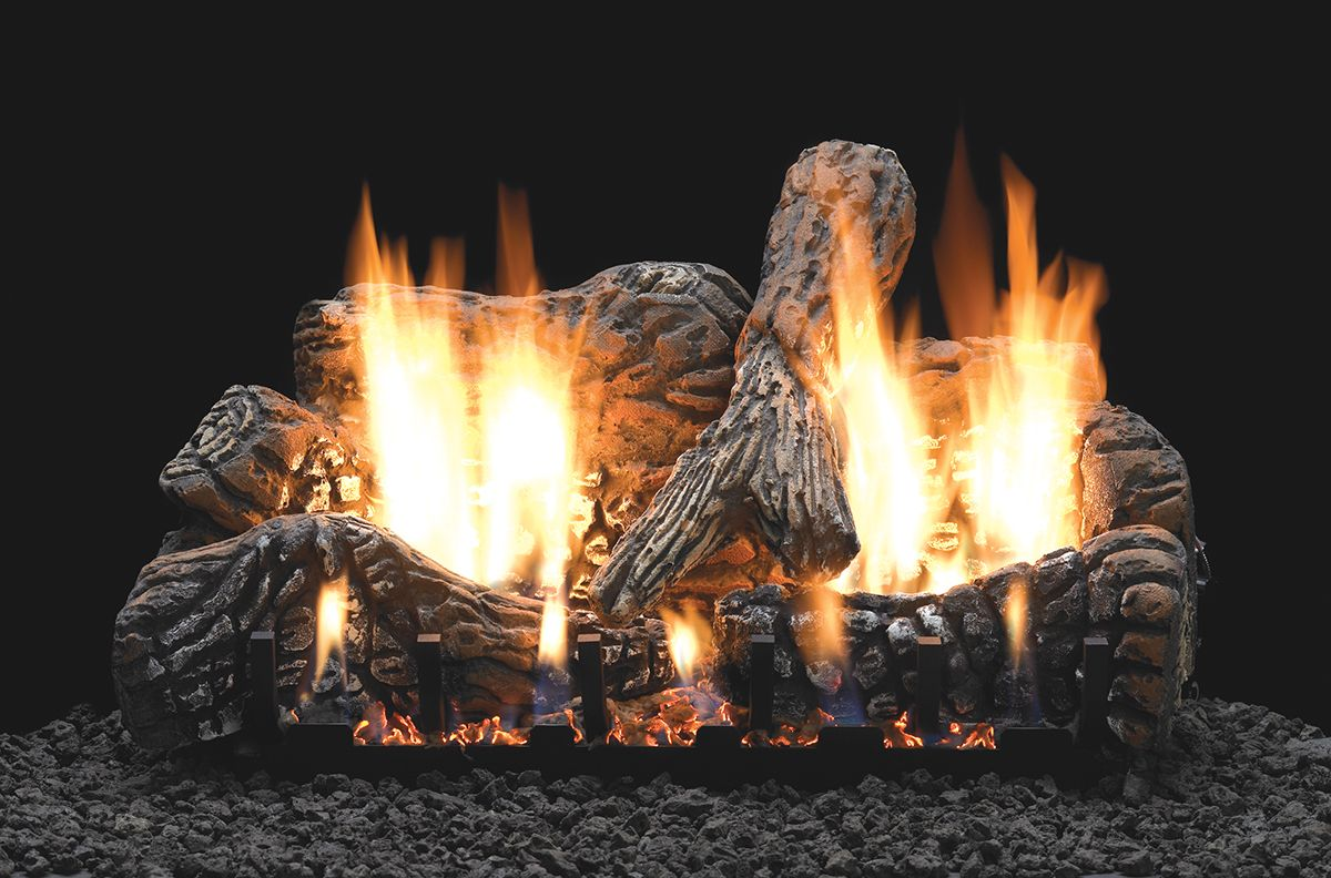 Ceramic Logs For Gas Fireplace Traditional Log Sets White Mountain Hearth Ideas For The House