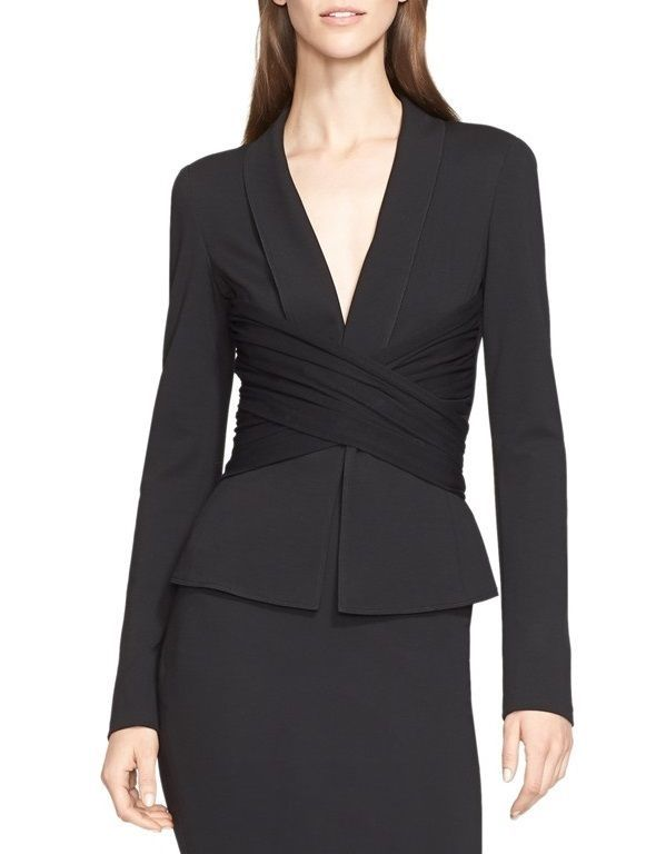 5ca17af74d6 DONNA KARAN NEW YORK BELTED DRAPE. This piece by Donna Karan New York is  tailored to feel as smart as a jacket but as effortless to wear as a top.