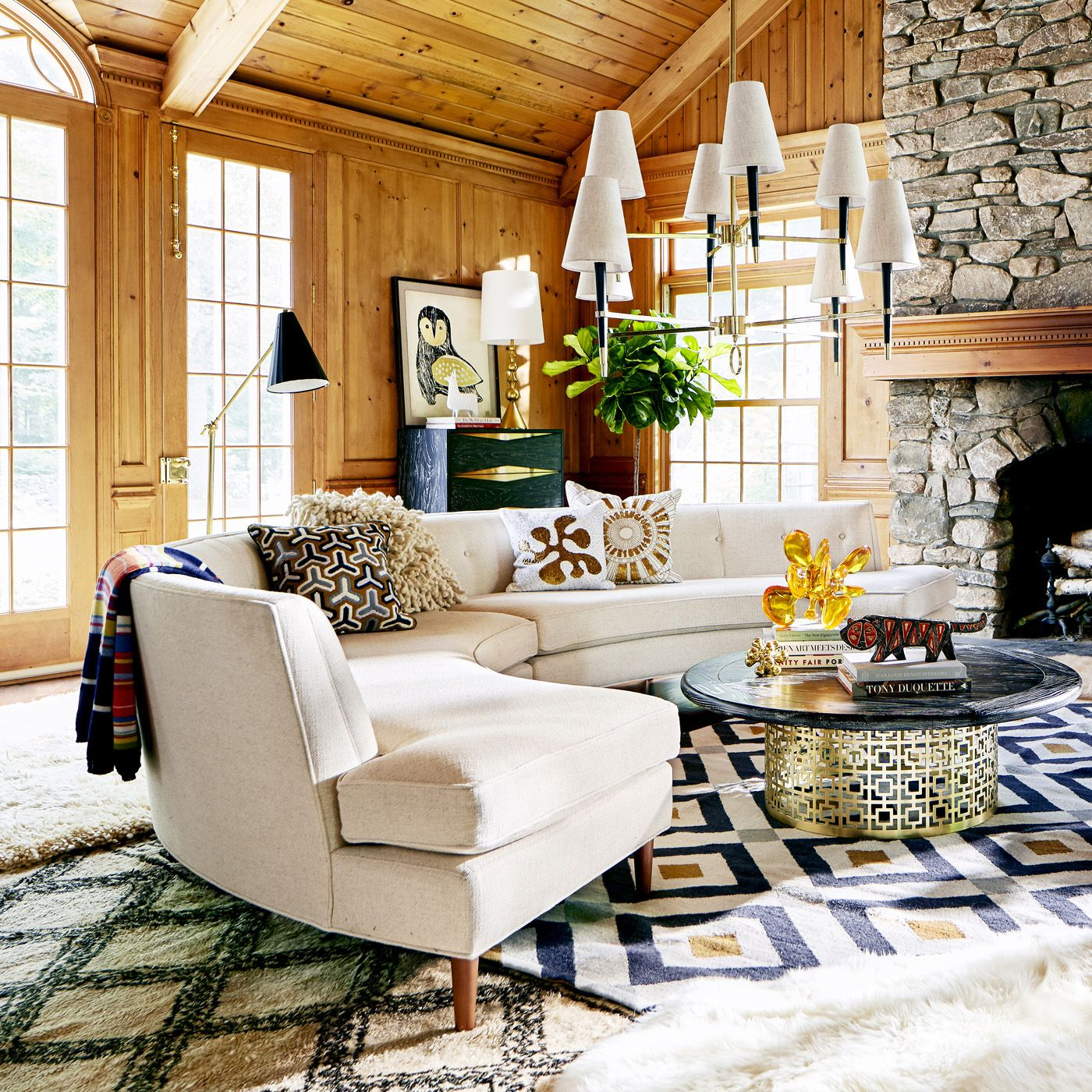 Chic Chalet Danner Curved Sectional Jonathan Adler