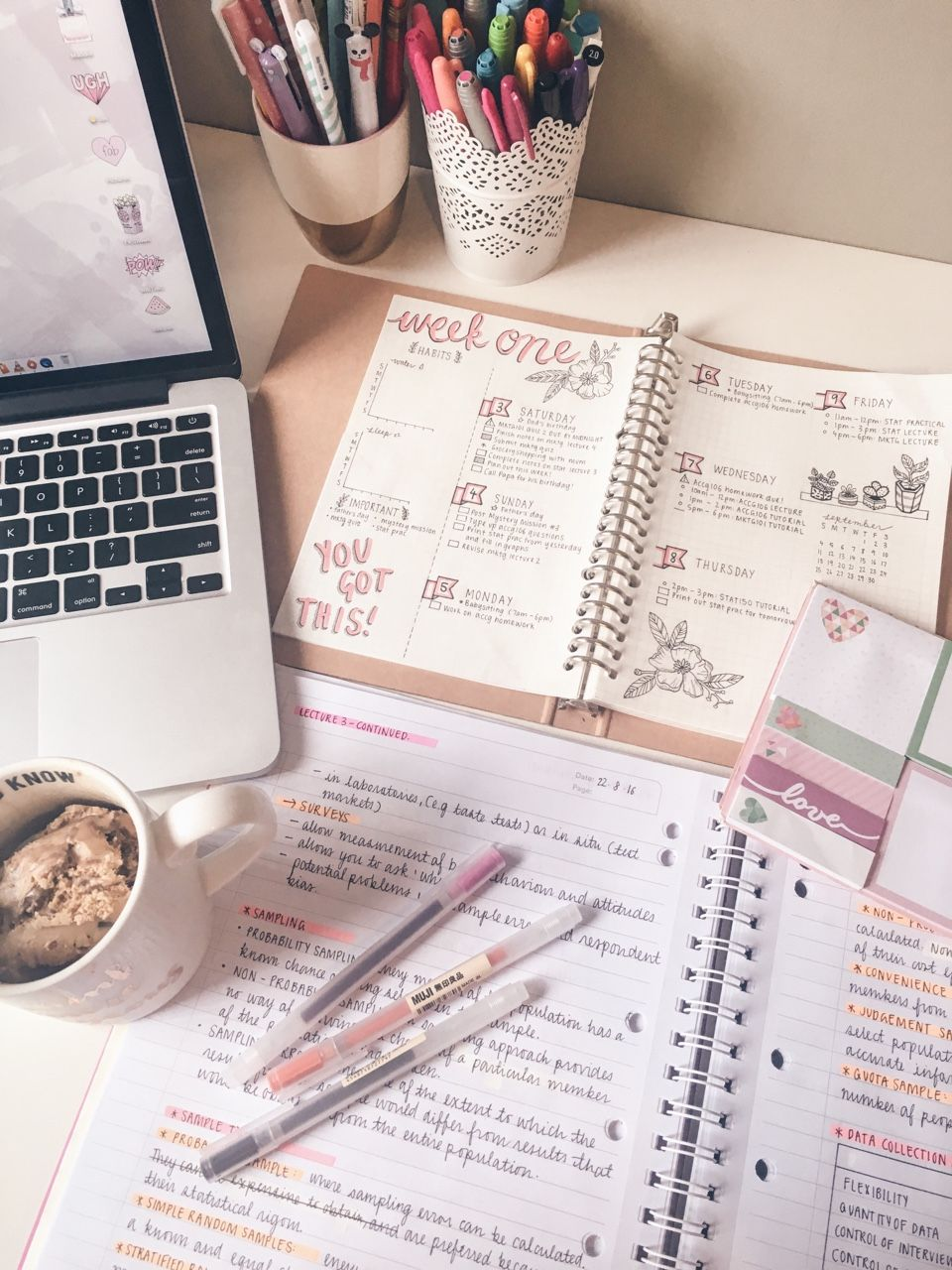 """the-girlygeek: """" 3.9.16 // Nibbling on some coffee ice cream while I catch up on my marketing notes. ✌️ I spent most of the morning working on my weekly spread, but I'm going out to run some errands soon. Hopefully i'll still be productive when I..."""
