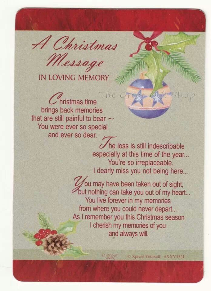 Christmas Is Not The Same Without You