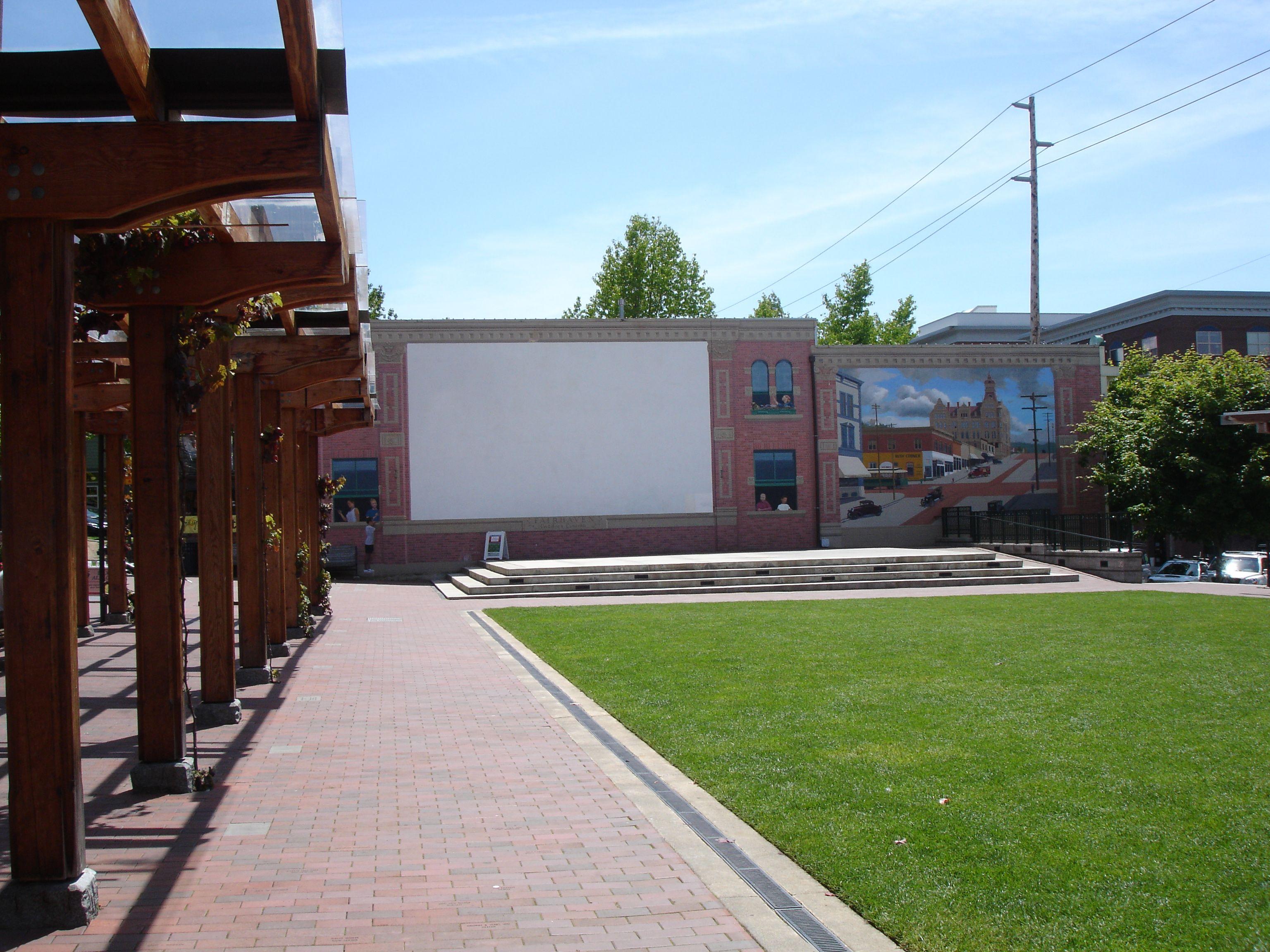 Fairhaven Outdoor Cinema, Bellingham, Washington USA