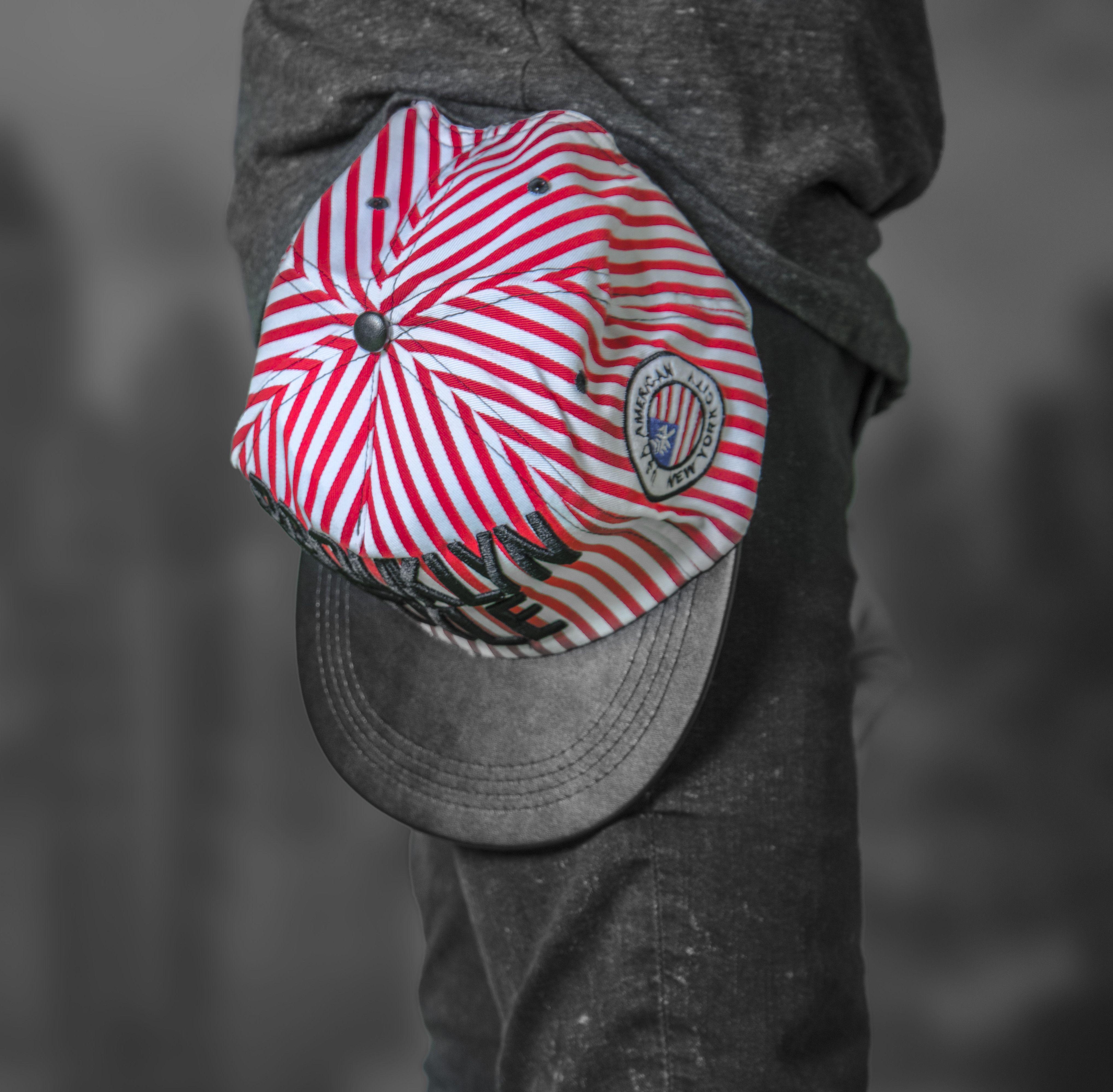 Brooklyn Style Striped Baseball Cap