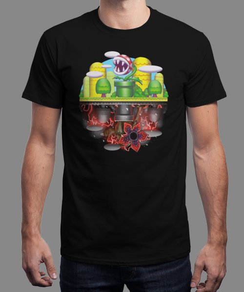 """""""Plant Upside Down"""" is today's £9/€11/$12 tee for 24 hours only on Pin this…   Qwertee thumbnail"""