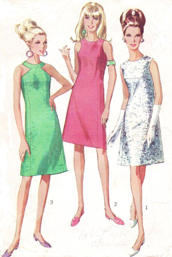 Vintage 1960s Simplicity Sewing Pattern 6842 Womens By Cloescloset