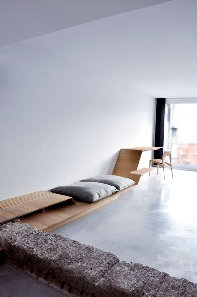 Belgian design studio atelierin 60 sqm apartment in ghent for 60 sqm apartment design