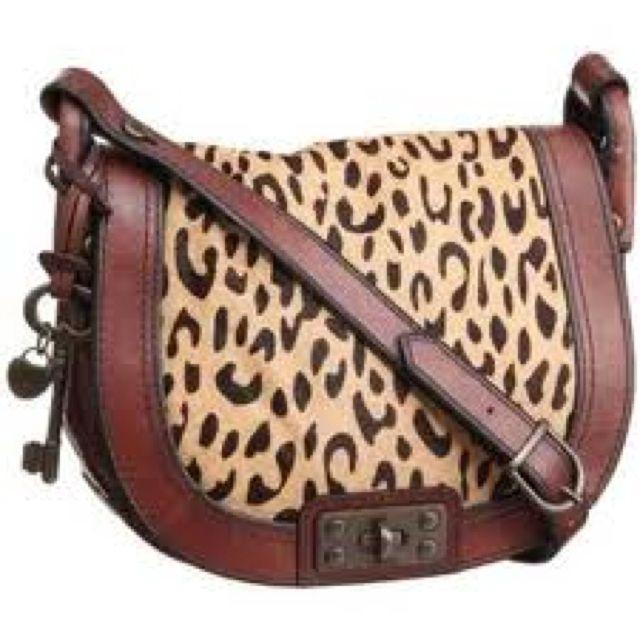 Fossil Leopard Print Handbag - HandBags 2018