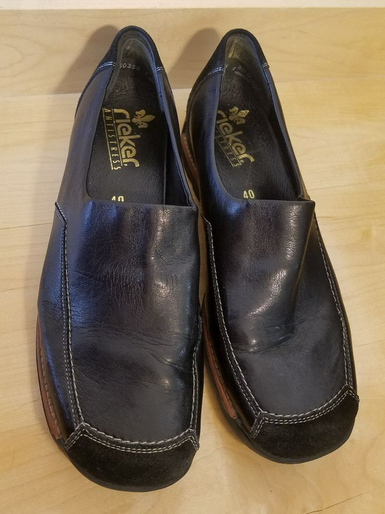 Womens size 9 Rieker Antistress Black LeatherComfort Loafer