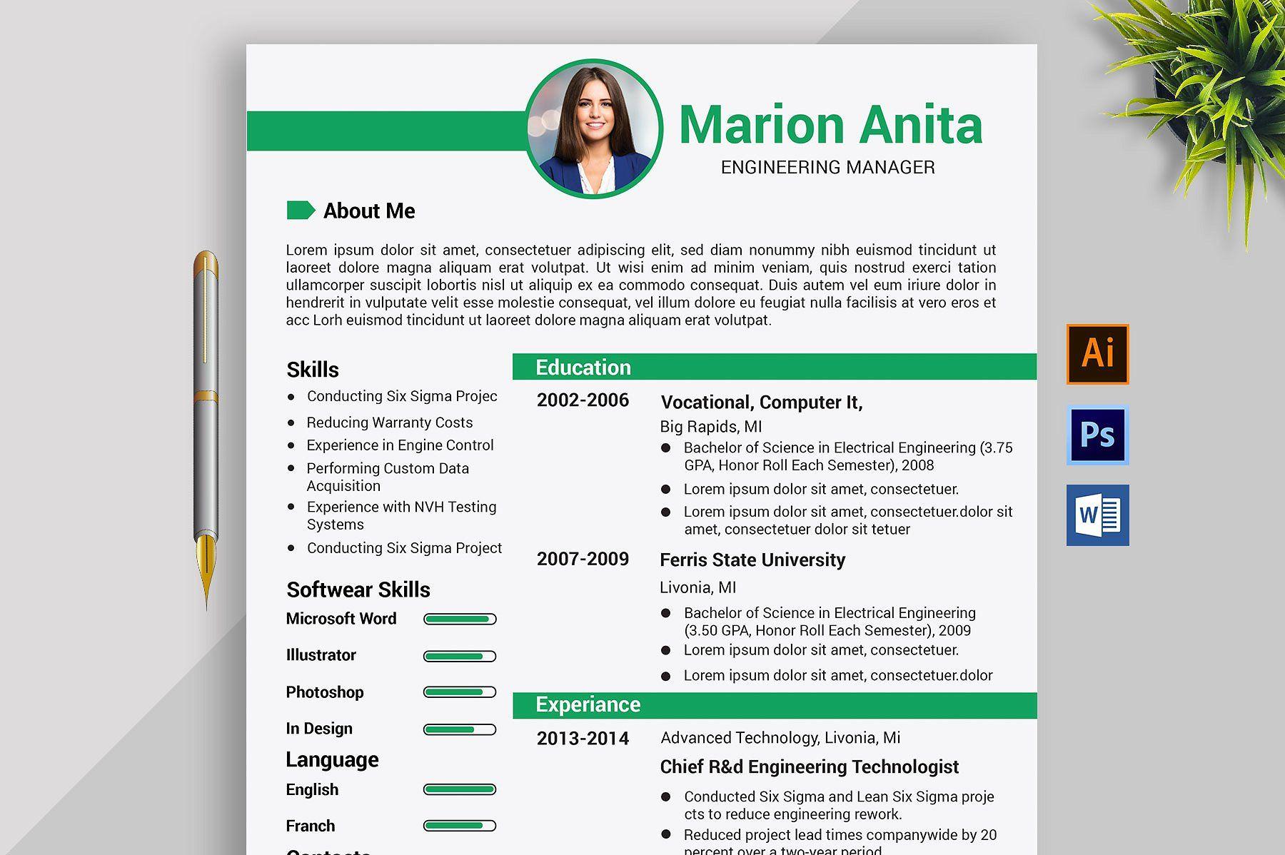 Professional Resume Cv Template Cv Template Resume Cv Cover Letter For Resume