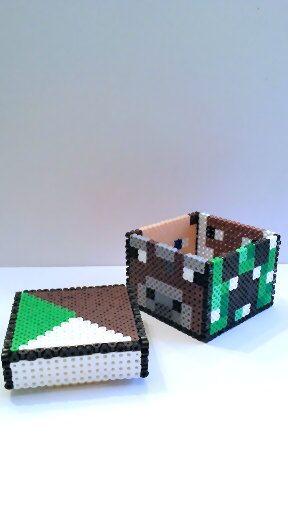 perler bead minecraft storage box by gamingbeads hama. Black Bedroom Furniture Sets. Home Design Ideas
